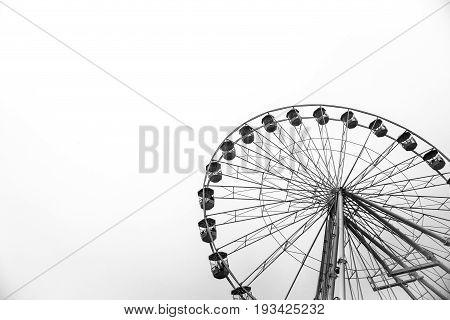 The close up detail of a funfair wheel in Bournemouth, Devon, England stock photo