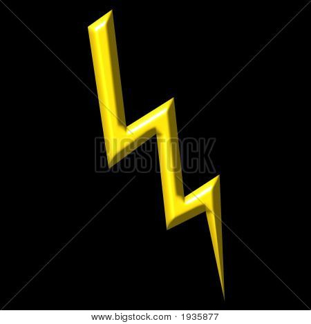 Thunder strike that is isolated in black stock photo