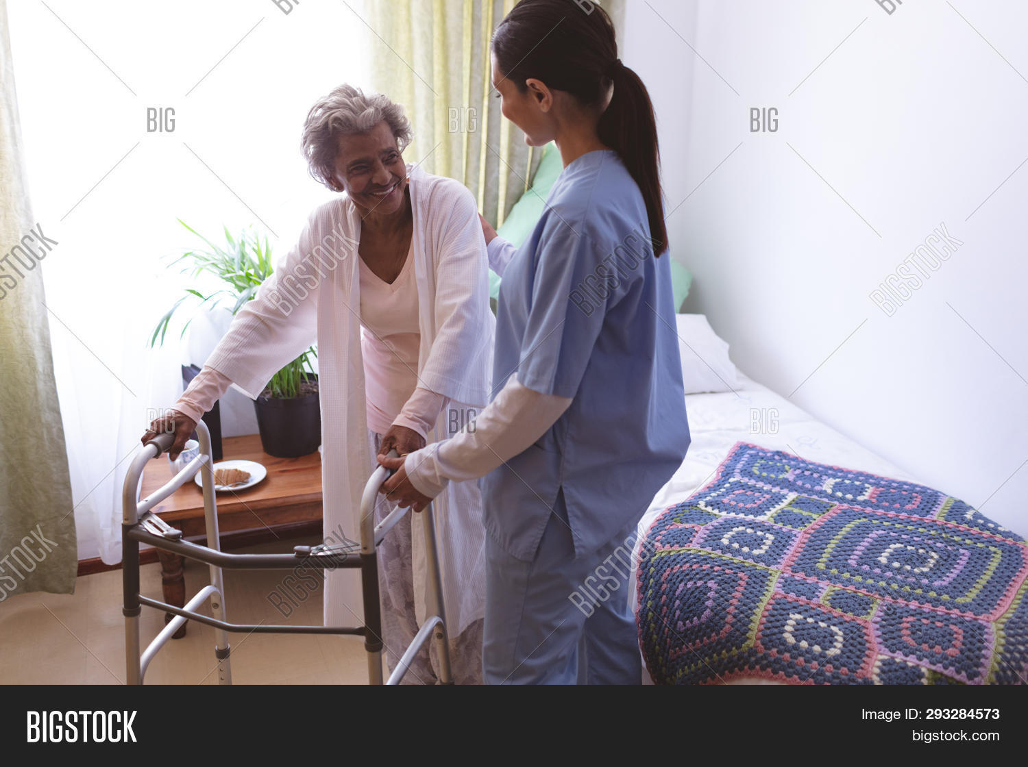 accommodation,active,active senior,bed,blanket,care,checkup,clinic,daycare,disabled,elderly,expertise,female,handicapped,health care,helping,holding,holding hand,interacting,medical examination,medicine,mid adult,mid adult women,mixed-race,mixed-race person,nurse,nursing,nursing home,occupations,old-age,patient,pensioner,physical impairment,retiree,retirement,retirement home,senior,senior citizen,senior women,shelter,standing,talking,together,treatment,trust,uniform,walker,walking,woman