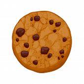 Chocolate chips treat vector representation.