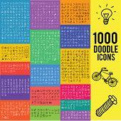 Set of 1000 doodle symbol