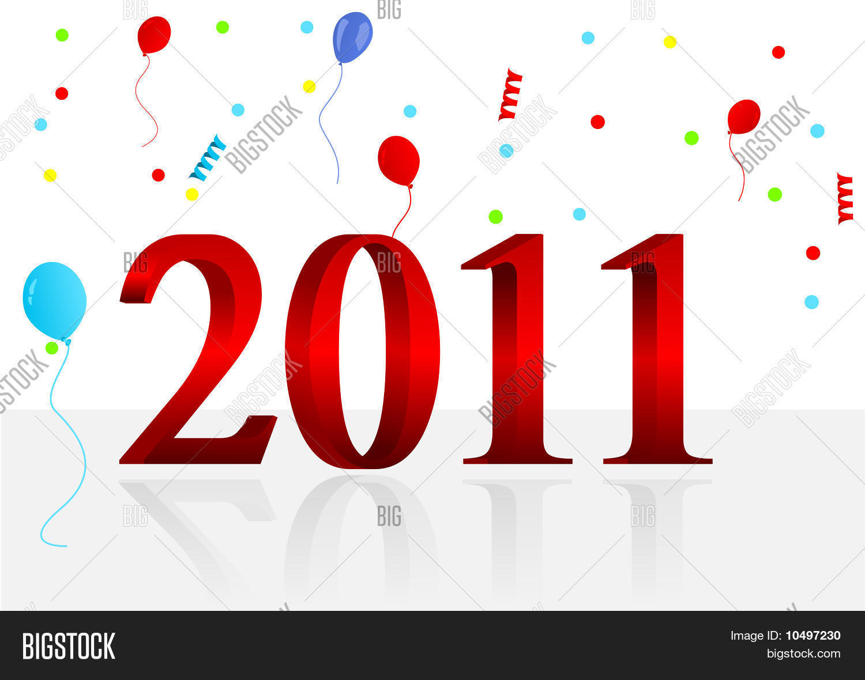 Background illustration of new year
