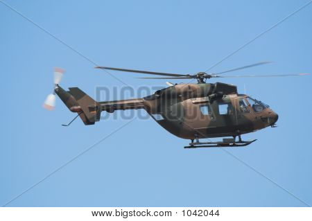 side profile of an airforce bk helicopter stock photo