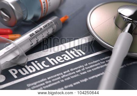 Public Health. Medical Concept.
