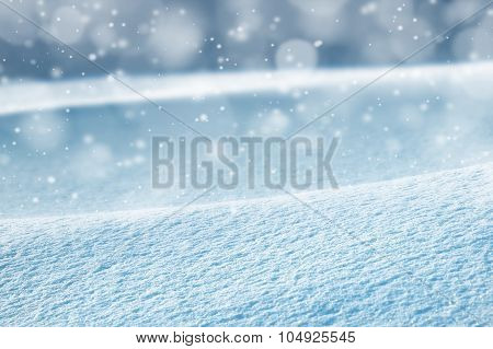 Background from snow