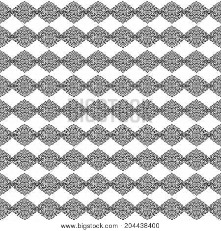Abstract symmetrical black and white texture design; similar to chains of connecting knotted; - seamless, repeatable pattern. stock photo