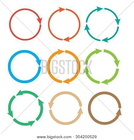 Arrow pictogram refresh. Reload and rotation loop sign. stock photo