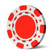 Poker Chip. Vector.