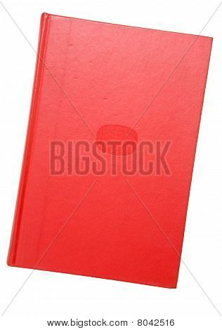 A bound red book - isolated on white stock photo