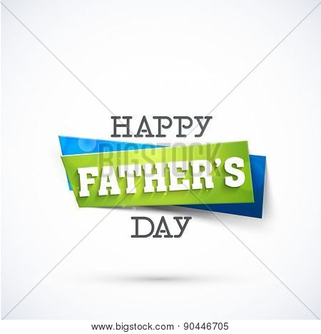 Stylish sticky with text Happy Father\'s Day.