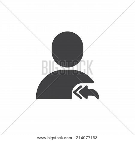 User reply to all icon vector, filled flat sign, solid pictogram isolated on white. Symbol, logo illustration.