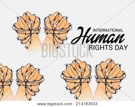 illustration of a background for International Human Rights Day. stock photo