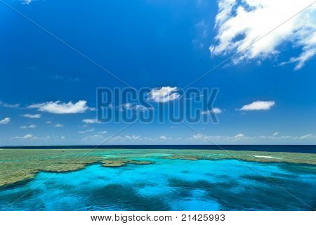 Australia Great Barrier Reef Seascape of Clam Gardens stock photo