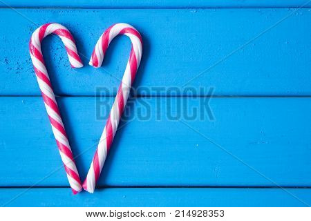 closeup of heart made from Christmas candy. love is all around us. with copy space for your design