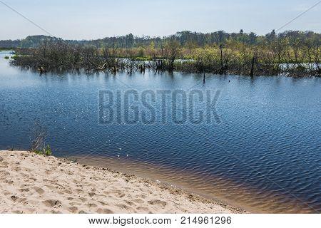 Ecopark East in Kolobrzeg coastal city in Poland stock photo