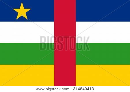 The flag of Central African Republic. Vector illustration. Bangui stock photo