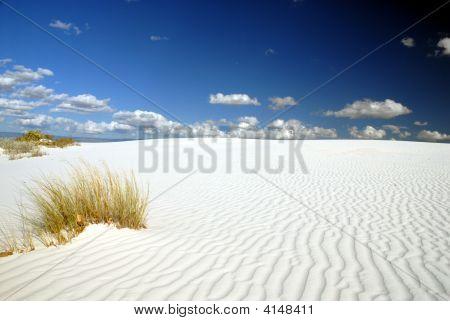 Paysage de sable blanc