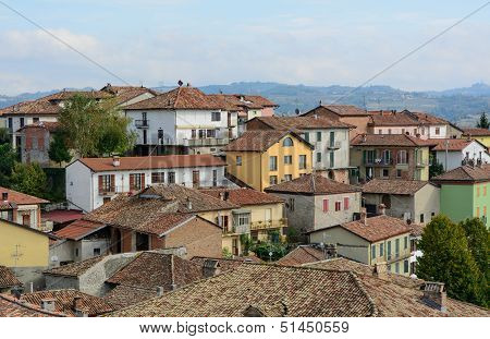 Diano d'Alba in Piedmont - North Italy stock photo