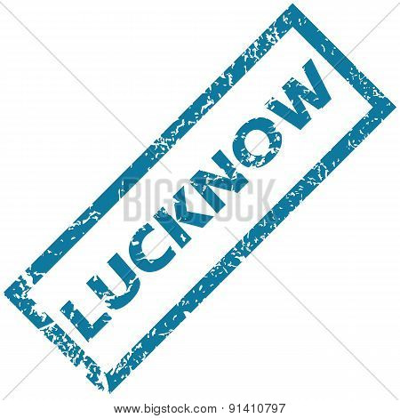 Vector blue rubber stamp with city name Lucknow, isolated on white stock photo