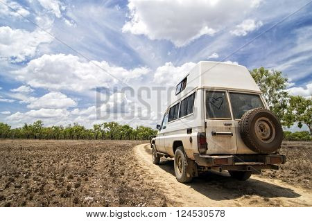 4WD off-Road in Northern Territory stock photo