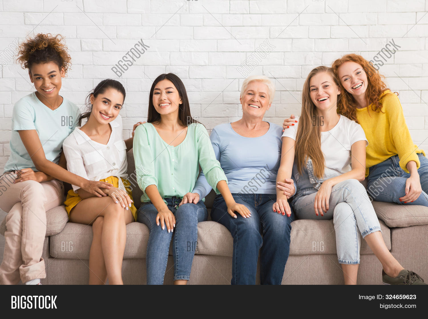 adult,asian,association,background,camera,caucasian,community,concept,couch,diverse,diversity,elderly,equality,ethnicity,european,female,friends,friendship,gathering,generation,girls,group,happy,hugging,indoor,international,ladies,lifestyle,looking,mature,millennial,multiethnic,organization,people,senior,sitting,smiling,social,sofa,support,team,together,togetherness,unity,wall,white,women,young