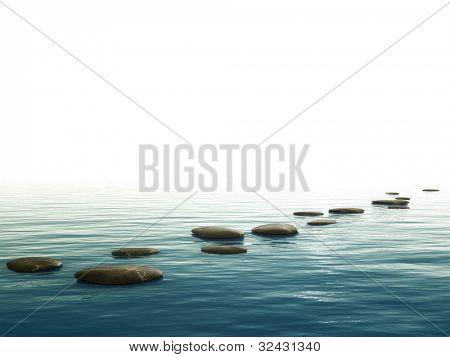 Une image de fond avec quelques pierres belle étape en bas