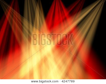 crossing red and yellow lights in a darkness stock photo