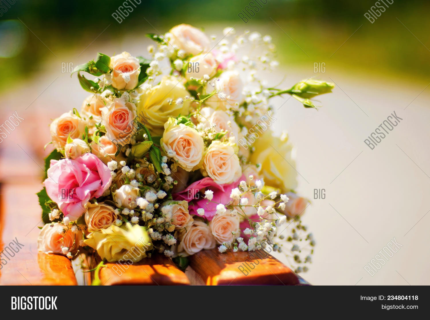 Wedding bouquet pink roses and lisianthus delicate pink gentle and izmirmasajfo