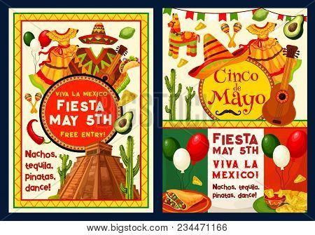 Cinco de mayo greeting card or poster for mexican holiday 5 m4hsunfo