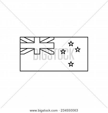 New Zeland flag icon. Outline New Zeland flag vector icon for web design isolated on white background stock photo