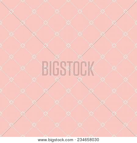 Geometric dotted vector dottted pattern. Seamless abstract pik and white modern texture for wallpapers and backgrounds stock photo