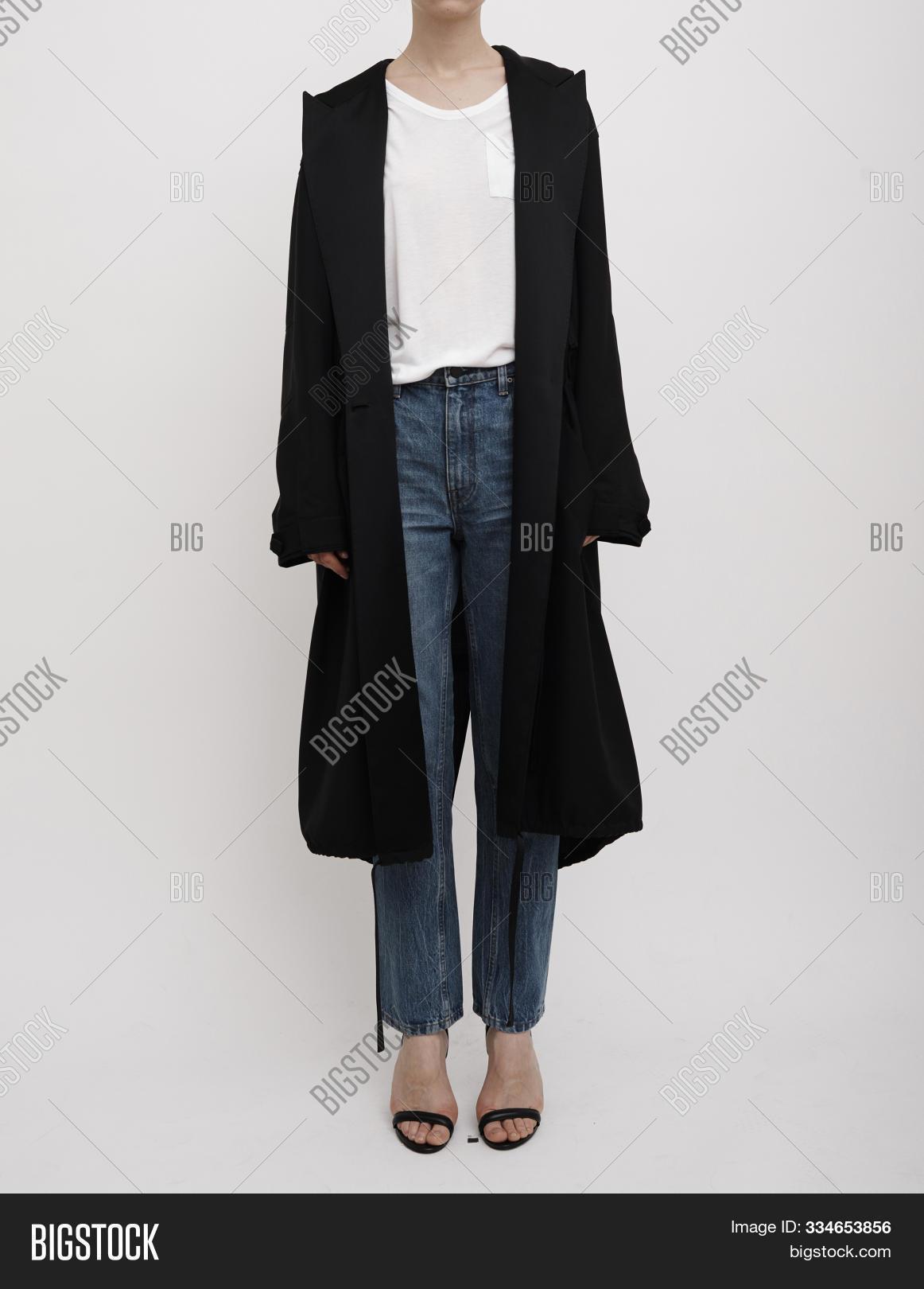 Daisy Women's Single Breasted Waterproof Long Trench Coat , Women Long Woolen Coat with white background, Women's Jackets, Coats & Blazers