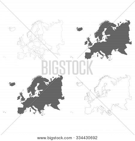 vector illustration with Political Maps of Europe stock photo