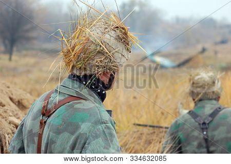 German Wehrmacht infantry soldier In World War II stock photo