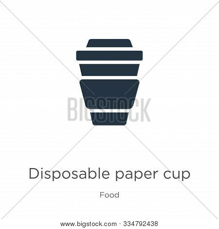Disposable paper cup icon vector. Trendy flat disposable paper cup icon from food collection isolated on white background. Vector illustration can be used for web and mobile graphic design, logo, stock photo
