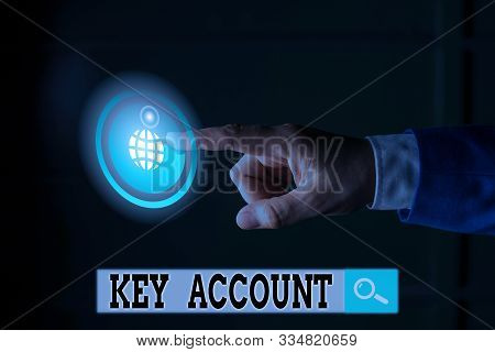 Handwriting text writing Key Account. Concept meaning individual approach of sales showing to their customers. stock photo