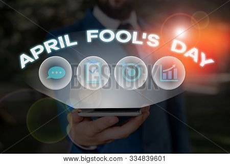 Word writing text April Fool S Day. Business concept for Practical jokes humor pranks Celebration funny foolish. stock photo