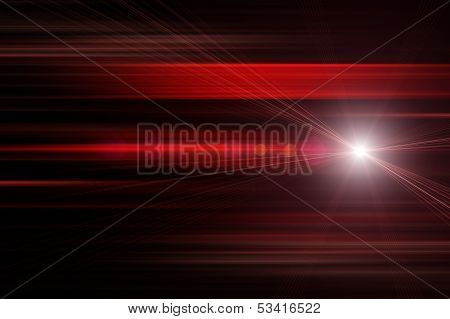 Fantastic Futuristic Technology Background Design With Lights
