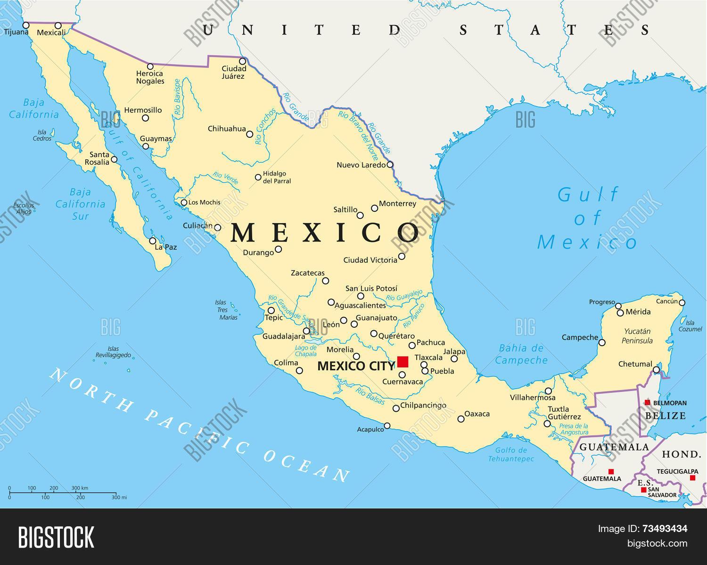 🔥 Mexico Political Map