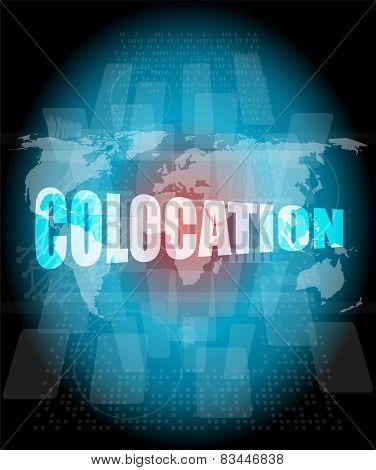 colocation - media communication on the internet stock photo