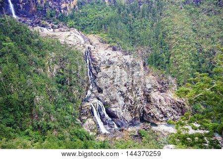 Blanco Falls in tropical North Queensland Australia