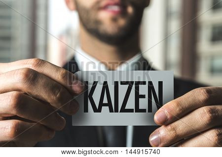 Kaizen (Japanese business philosophy of continuous improvement) stock photo