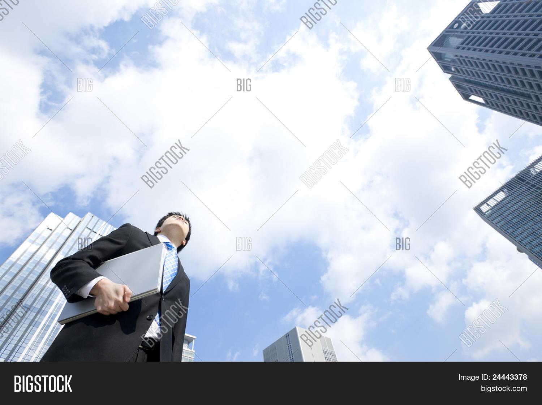 Businessman who had laptop computer