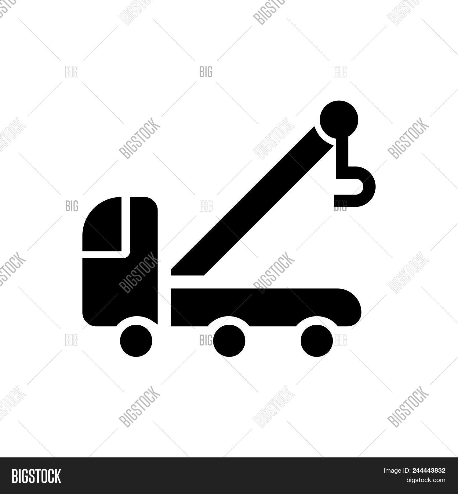 Tow Truck Vector Icon On White Background Tow Truck Modern Icon