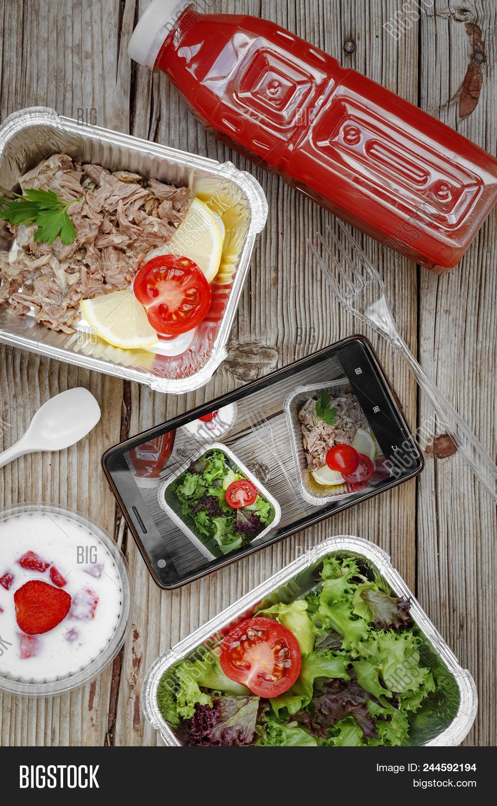 Healthy Food Delivery Concept Proper Nutrition Catering