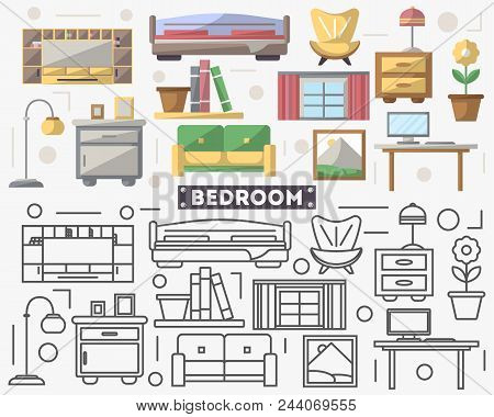 🔥 Bed room Furnishings Set In Flat Model. Couch, Armchair ... Icons Design House Beds on bed lifters, bed texture, bed desktop, bed seat cushion, bed on beach, bed bolsters, bed people, bed queen, bed on stilts, bed cooler, bed bunker, bed railing, bed for disabled at home,