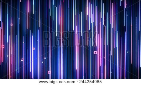 Red-blue neon animated VJ background watch 4k stock photo