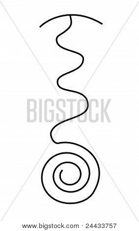 Reiki Symbol Fire Serpent Photo Stock