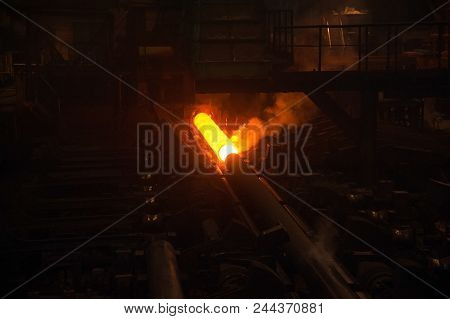 Oil and gas industry,refinery factory. Industrial installation in oil and gas production stock photo