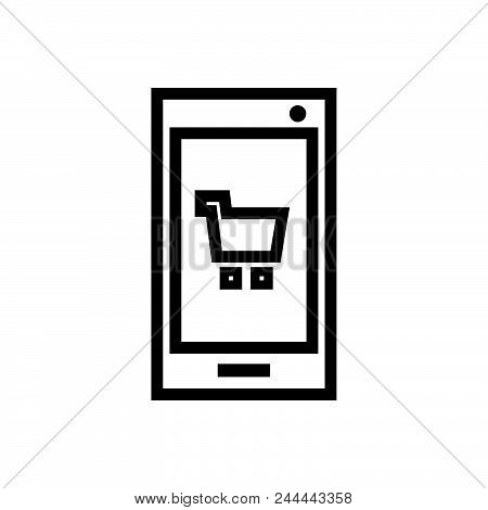 shopping app vector icon on white background. shopping app modern icon for graphic and web design. shopping app icon sign for logo, website, app, ui. shopping app flat vector icon illustration, EPS10 stock photo